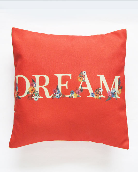 dream floral pillow cover