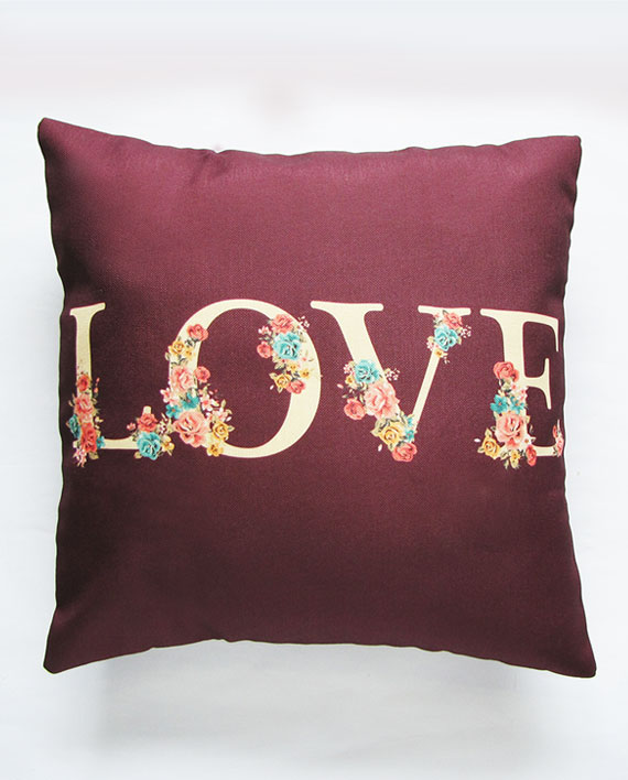 plum pillow cover
