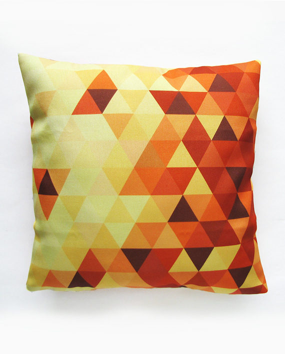 yellow geometric pillow cover