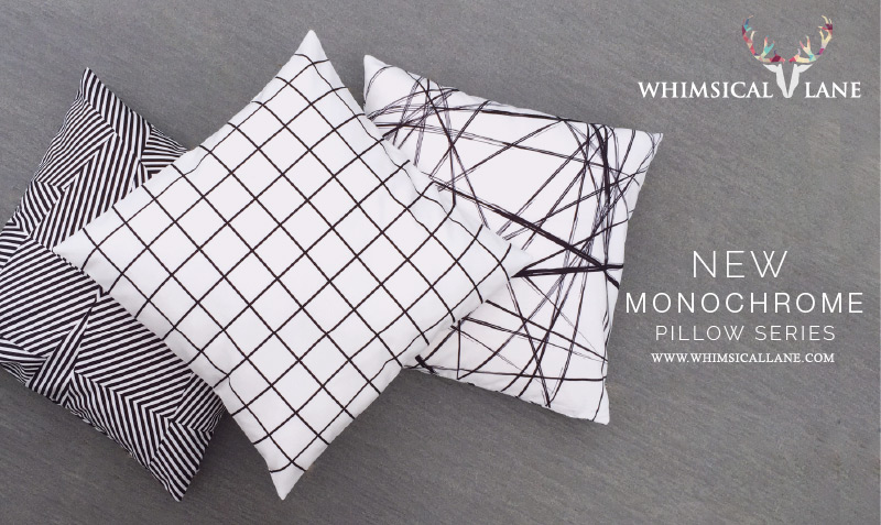 Minimalistic Black and White Pillows